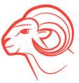 zodiac sign aries logo vector image