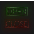 Open and Close signs vector image