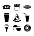 Fast food and drink icon on white background vector image