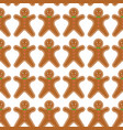 gingerbread men seamless pattern vector image