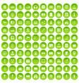 100 camera icons set green circle vector image vector image
