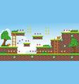 2d tileset platform game 18 vector image vector image