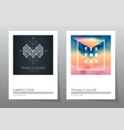 Abstract geometry backgrounds set A4 format vector image vector image