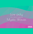 abstract low poly aqua background lilac violet vector image vector image