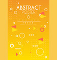 abstract poster original design creative solution vector image