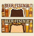 banners for beer festival vector image vector image