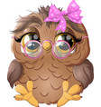 beautiful owl drawing vector image vector image