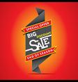 big discount sale end of season sale banner desig vector image vector image