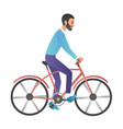 cartoon style of man riding on vector image vector image