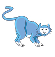 cat blue vector image vector image