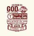 christian biblical typography vector image vector image
