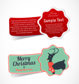 Christmas Design Elements and Stickers vector image vector image