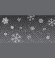 christmas snow heavy snowfall falling snowflakes vector image vector image