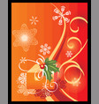 christmas theme background vector image vector image