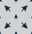 Christmas tree icon sign Seamless pattern with vector image