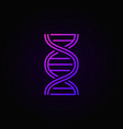 colorful dna spiral outline concept icon vector image vector image