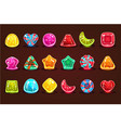 colorful glossy candies details for computers vector image vector image