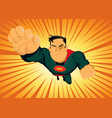 comic superhero - fast and furious vector image vector image
