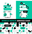 concept repair mobile phones and service vector image