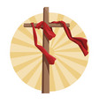 cross catholic symbol vector image vector image
