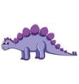 cute purple dinosaur character vector image vector image