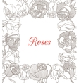 decorative floral frame with roses vector image