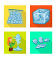 design of texture and frozen logo vector image vector image