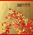 dog symbol 2018 on chinese calendar happy vector image vector image