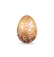 easter egg 3d icon ornate gold egg isolated vector image vector image