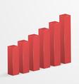 Financial bar graph icon vector image
