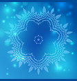 flower mandala background vector image vector image