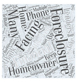 Foreclosures and Moving What to Do Word Cloud vector image