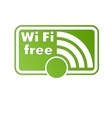 Free wifi and Internet sign with square border vector image vector image