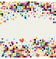 fun pixel squares note paper background vector image vector image