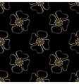 Golden Luxury flower pattern on dark background vector image vector image