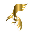 golden symbol eagle that is flying vector image vector image