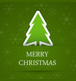 Green merry christmas vector image vector image
