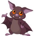 Halloween bat presenting vector image vector image