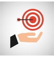 hand business growth tag strategy market vector image
