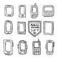 Hand drawn set of mobile gadgets vector image vector image