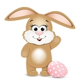 Happy Easter Easter bunnie and egg vector image vector image