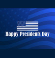 happy presidents day greeting card with american vector image vector image