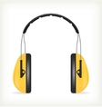 Headphones for ear protection vector image vector image