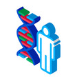 human and molecule dna isometric icon vector image vector image