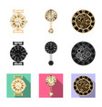 isolated object of clock and time sign collection vector image vector image