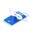 isometric mobile phone sleep vector image vector image