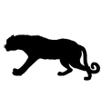 Leopard silhouette vector image vector image