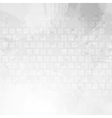 Light grey tech grunge background vector image vector image