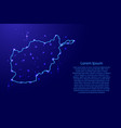 map afghanistan from the contours network blue vector image vector image