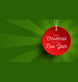 merry christmas sale banner red round price tag vector image vector image